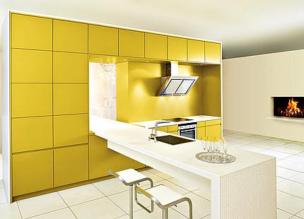 Gelbe Küche von KH System Möbel