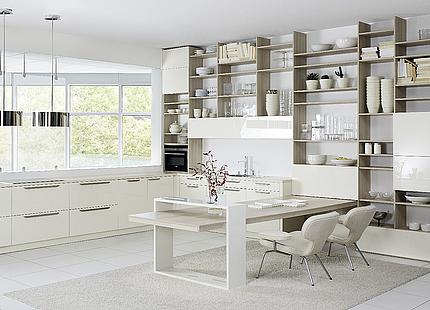 Weiße Wohnküche von KH System Möbel