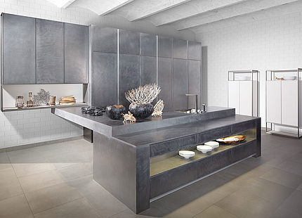 Extravagante zeyko-Küche aus Metall