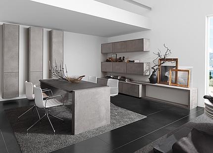 Moderne Wohnküche von zeyko
