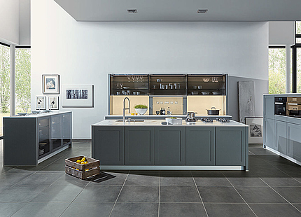 zeyko Küche Cottage in Grau