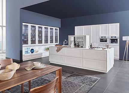 zeyko Küche Cottage in Weiß