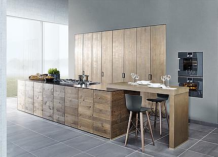 zeyko Küche Forum 3 Schicht mit Holzfronten