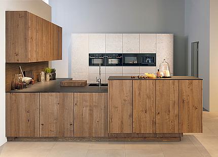 zeyko Küche Forum Metal-LUX mit Holz- und Metallfronten