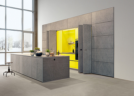zeyko Küche Forum Stucco mit Falttüren