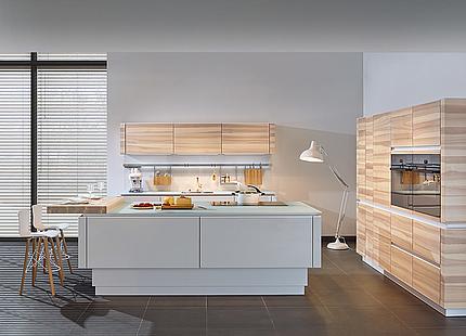 zeyko Küche Forum 3-Schicht mit Holztheke