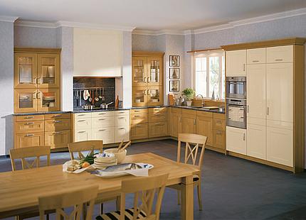 Holzküche von zeyko in L-Form